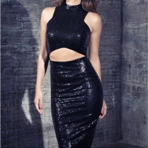 Nicole X Missguided Sequins Dress